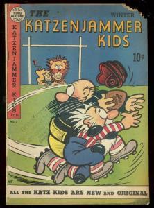 KATZENJAMMER KIDS #7 1949-FOOTBALL COVER-SLAPSTICK ART G
