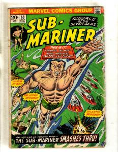 Lot Of 2 Sub-Mariner Marvel Comic Books # 63 GD 67 VF Fantastic Four Triton FM2