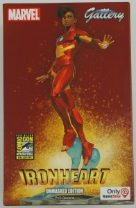 Ironheart Unmasked Edition PVC Diorama Statue SDCC exclusive NIB limited to 6000
