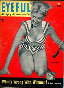 Eyeful 2/1954-cheesecake-Roma Paige-Betty Bettie Page-lingerie-stocking-VG