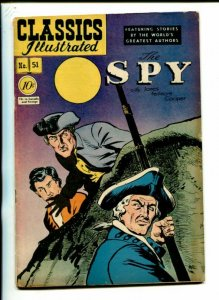 Classics Illustrated #51 hrn 51 1948- Spy James Fenimore Cooper 1A