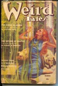 Weird Tales 3/1939- Virgil Finlay GGA cover-Lovecraft-Seabury Quinn-pulp horror