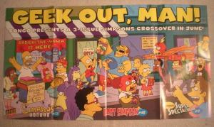 GEEK OUT MAN Promo Poster, Bongo, 32x17, 2009, Unused, , more Promos in store