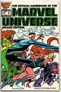 Official Handbook of the Marvel Universe #8 Deluxe Edition (1986) VF