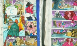 TIME MASTERS-RARE-DC COLOR GUIDES PROD. ART