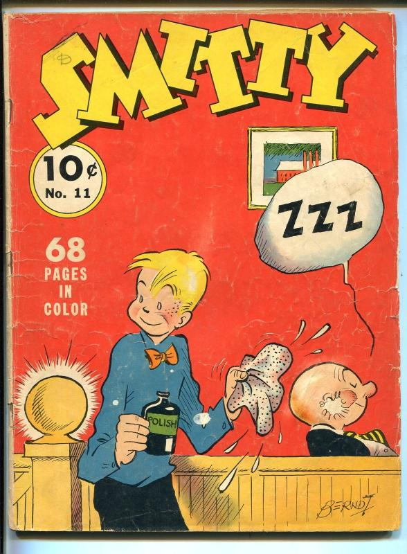 SMITTY #11 1940-DELL-FOUR COLOR COMICS-1ST SERIES-WALTER BERNDT-FULL COLOR-vg