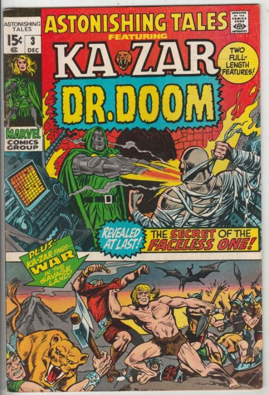 Astonishing Tales #3 (Dec-70) VF/NM High-Grade Ka-Zar, Doctor Doom