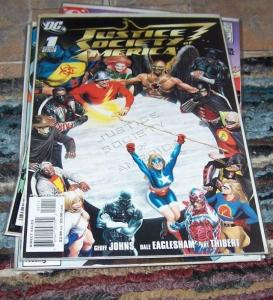 Justice Society of America #1 (Feb 2007, DC) LIBERTY BELL STEEL  flash hawkman
