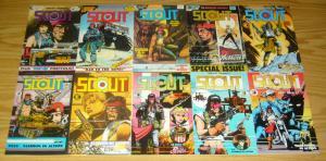Scout #1-24 VF/NM complete series + handbook - tim truman - eclipse comics set 3