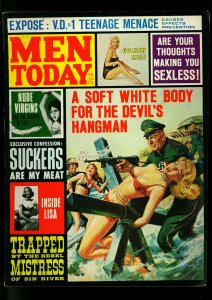 Men Today Pulp Magazine February 1965- Wild Nazi cover-Teenage Menace- FN