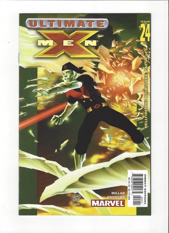 Ultimate X-Men #24 (2001) Hellfire and Brimstone Iceman Cover NM