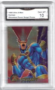 1995 Ultra X-Men Cyclops Chromium Power Surge Promo Card - Graded Mint 10
