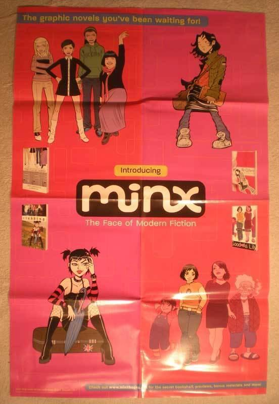 MINX FACE OF MODERN FICTION Promo Poster, 22x34, Unused, more Promos in store