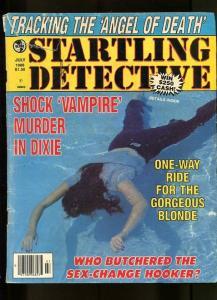STARTLING DETECTIVE-07/1988-VAMPIRE MURDER-HOOKER-HANGMAN-DEATH RIDE G
