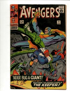 Avengers # 31 FN Marvel Comic Book Hulk Thor Iron Man Captain America BJ1