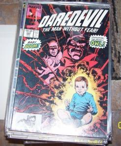 Daredevil  # 264  1989, Marvel) the owl  baby boom steve ditko art