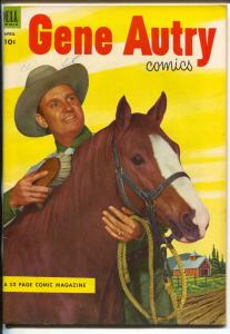 Gene Autry #74 1953-Dell-photocover-B-Western film star-VF