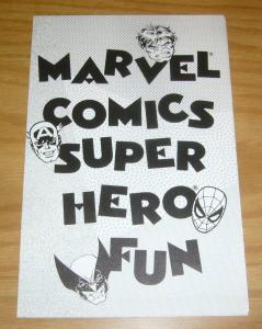 Marvel Comics Super Hero Fun - activity page & poster from 1989 spider-man hulk