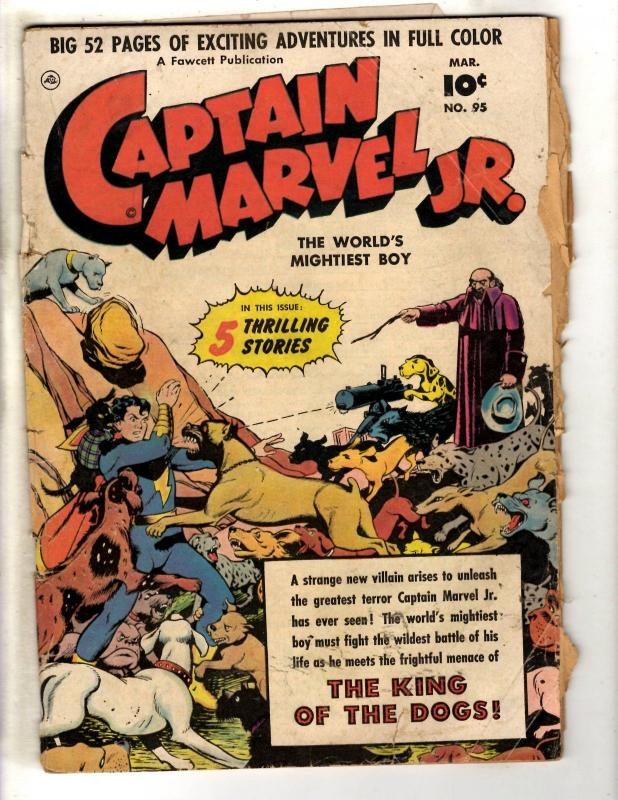 Captain Marvel Jr. # 95 VG- Fawcett Golden Age Comic Book Shazam King Dog BE1