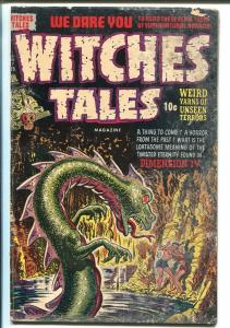WITCHES TALES #17 1953-HARVEY-PRE-CODE HORROR-ATOMIC DISASTER-MONSTER-good/vg