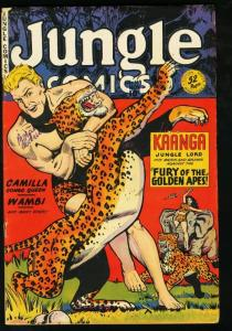 JUNGLE COMICS #119 FICTION HOUSE-KAANGA-1949-SPICY VG