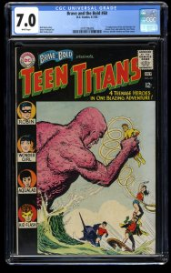 Brave and the Bold #60 CGC FN/VF 7.0 White Pages 1st Wonder Girl!