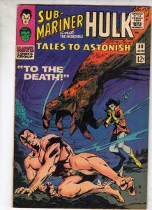 Tales to Astonish #80 (Jun-66) FN/VF+ High-Grade Incredible Hulk, Namor the S...