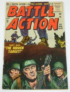 Battle Action #17 FN- june 1955 - golden age atlas comics - war