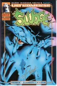 SLUDGE (1994 MA/UL) 1 (2.50 CVR;W/CERT) VF-NM SIGNED BY COMICS BOOK