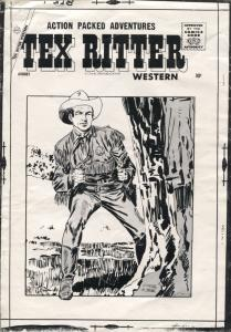 Tex Ritter Western Original Production Comic Book Cover Art 1950's-Charlton-VG