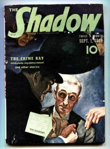 SHADOW SEPT 1 1939 pulp magazine THE CRIME RAY STREET & SMITH fn-