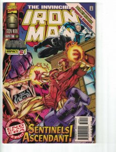 Iron Man (1st Series) #332 FN signed by Tim Dzon - Avengers - Marvel 1996