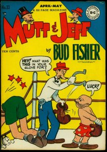 Mutt & Jeff #33 1948- Bud Fisher- Boxing cover- DC Golden Age VG-