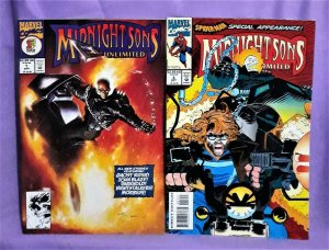 Ghost Rider MIDNIGHT SONS UNLIMITED #1 & #3 Morbius Spider-Man (Marvel, 1993)!