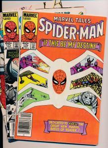 Marvel Tales SPIDERMAN #170-171 & Web of Spiderman #4  (HX586) 3 Comic Lot