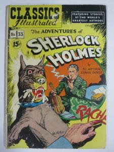 CLASSIC ILLUSTRATED #33 (FR) ADVENTURES OF SHERLOCK HOLMES (4A Edition, HRO=89)