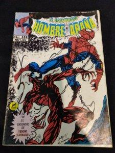 El Asombroso Hombre-Arana 555 Amazing Spider-Man 361 1st Carnage Mexican Variant