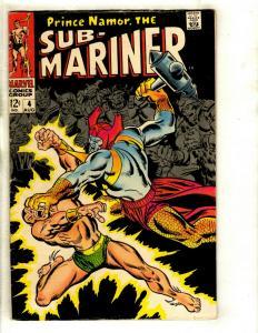 Sub-Mariner # 4 FN Marvel Comic Book Namor Defenders Avengers Hulk Thor GK3
