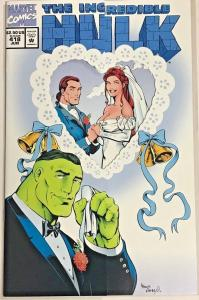 INCREDIBLE HULK#418 VF/NM 1994 WEDDING ISSUE MARVEL COMICS