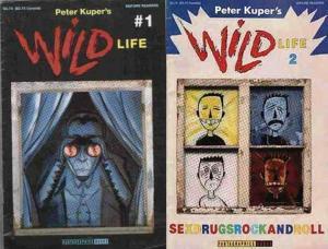 WILD LIFE (1994 FANTAGRAPHICS) 1-2  PETER KUPER's COMICS BOOK