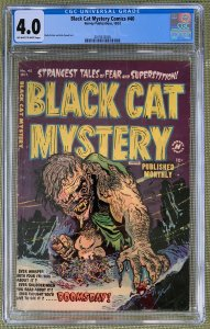 Black Cat Mystery Comics #40 (1952) CGC 4.0 -- O/w to white pages; Rudy Palais