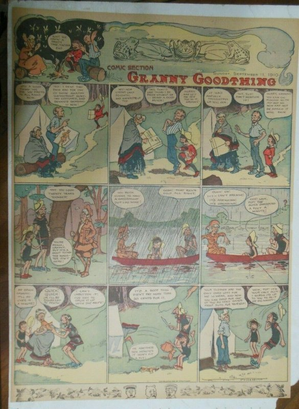 Granny Goodthing Sunday Page by Follett  from 9/11/1910 Full Page Size!