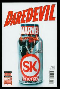 DAREDEVIL #8 2014- SK ENERGY VARIANT COVER- LIMIT ONE PER STORE- HIGH GRADE