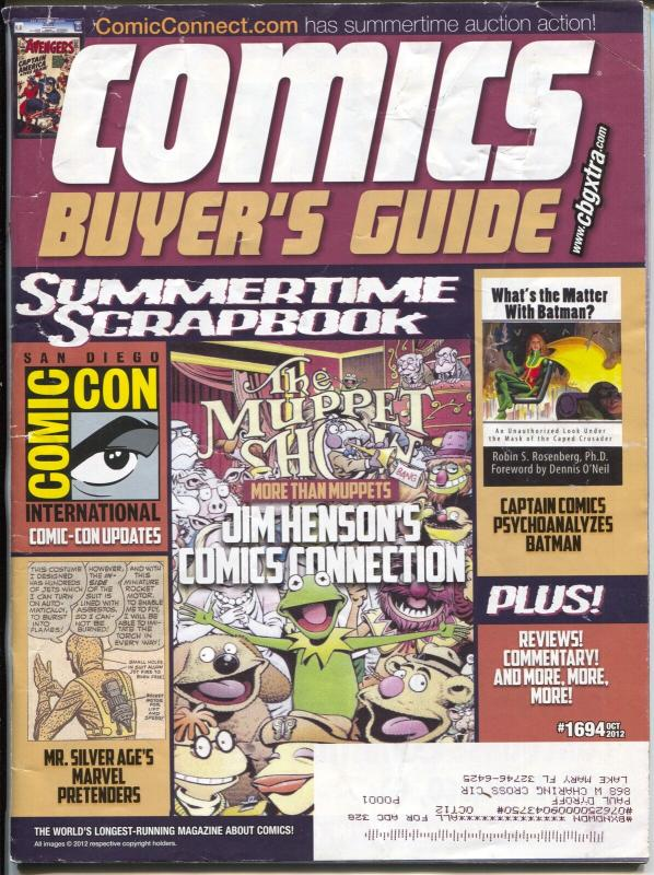 Comics Buyer's Guide #1694 2012-Krause-Batman-Muppets-Buy & sell ads-FN