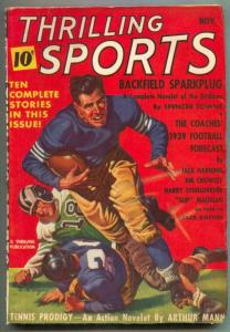 Thrilling Sports Pulp November 1939- Football Forecast VF-