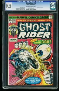 GHOST RIDER #14 1975-CGC GRADED 9.2 OFF-WHITE TO WHITE-KAREN PAGE 0210322003