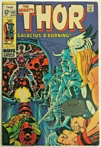 THOR#162 VG 1968 ORIGIN OF GALACTUS MARVEL SILVER AGE COMICS