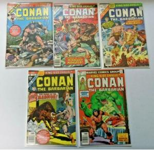 Conan the Barbarian run #1 to #5 Annual average 4.0 VG (1973)