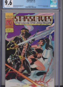 STARSLAYER #5 WHITE PAGES CGC 9.6 / 2'ND APP. GROO