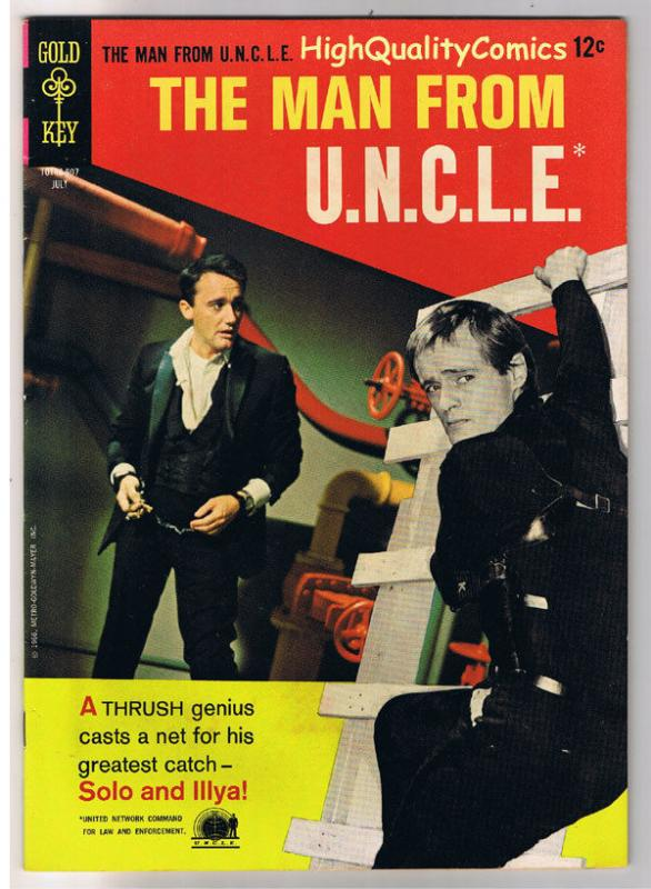 MAN from U.N.C.L.E. #7, VF-, Vaughn, Photo, Gold Key, 1965, more in store